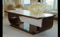 Ebony and Parchment Coffee Table